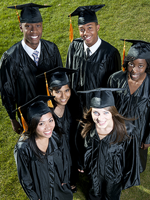 Stock photo of Graduating Class