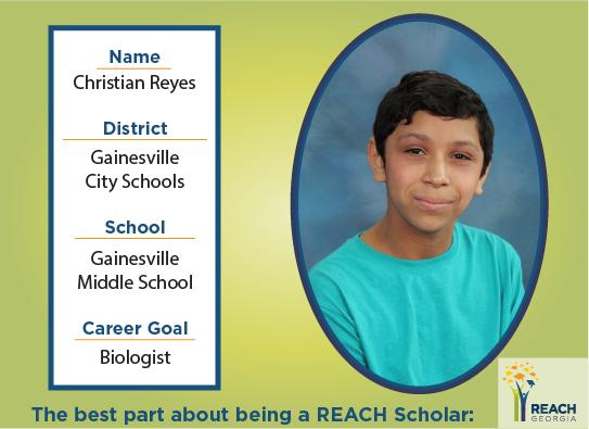 REACH Scholar Christian Reyes