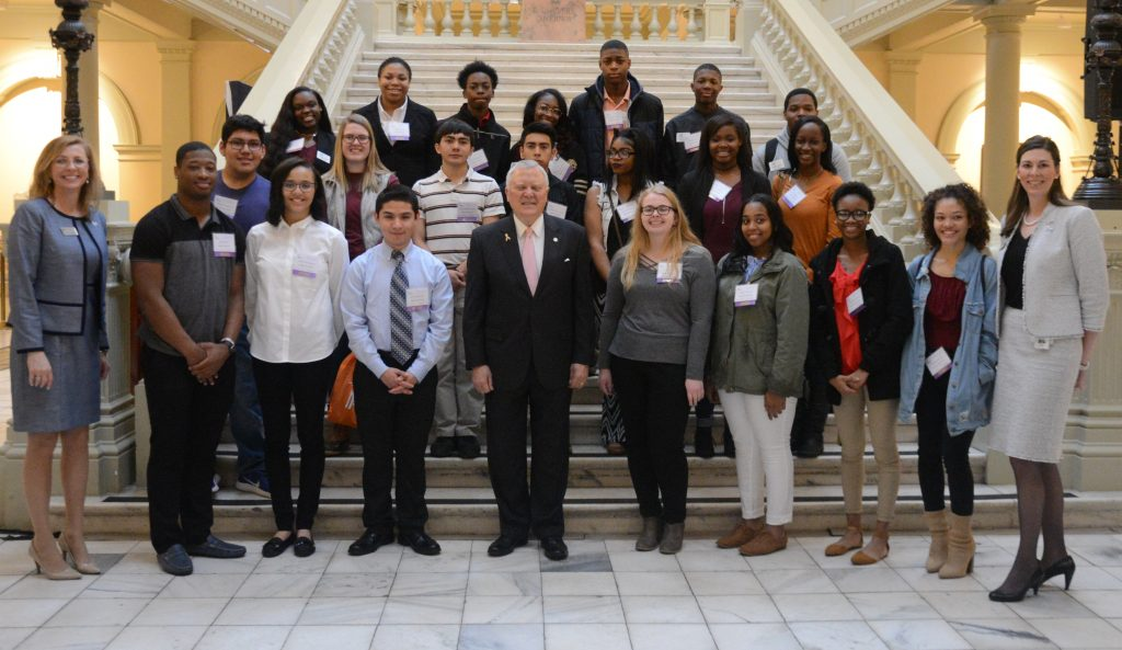 Governor Nathan Deal and the REACH Scholar Class of 2018