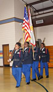 JROTC present colors