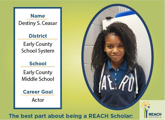 REACH Scholar Destiny Ceasar