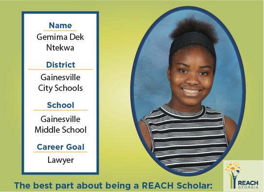 REACH Scholar Gemima Ntekwa