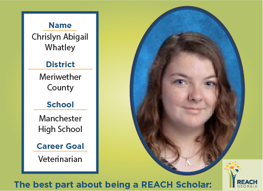 REACH Scholar Chrislyn Whatley
