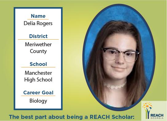 REACH Scholar Delia Rogers