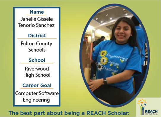 REACH Scholar Janelle Tenorio