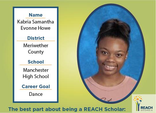 REACH Scholar Kabria Howe