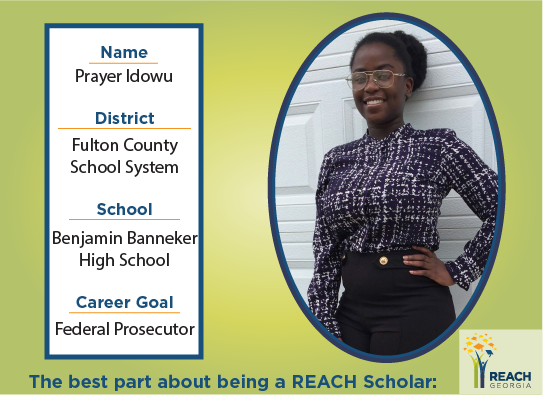 REACH Scholar Prayer Idowu