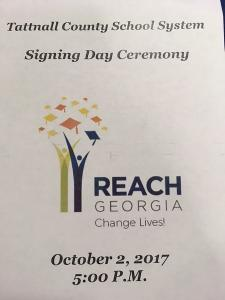 Tallnall County REACH Signing Day 2017